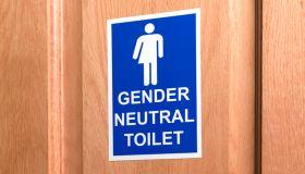 Gender neutral toilet door sign