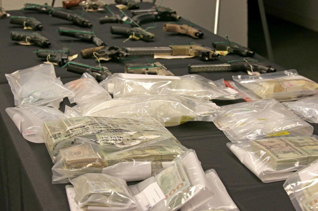 Federal gun and drug bust